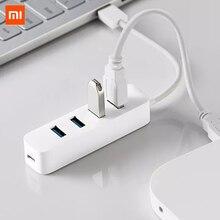 Xiaomi Hub USB 3,0 de 4 puertos con soporte, interfaz de fuente de alimentación, extensor de concentrador USB, adaptador de conector de extensión para tableta y ordenador