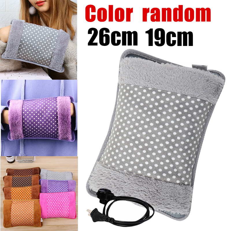 Rechargeable Cute Dot Pattern Winter Hand Warmer Electric Hot Water Bottle Bag Hand Pillow Massager Health Care Anti-cold Tool