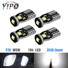 цена на 2X CANBUS t10 led w5w 194 168 3030 3smd Auto Wedge Clearance reading License Plate Light bulb signal lamp 12V car styling white