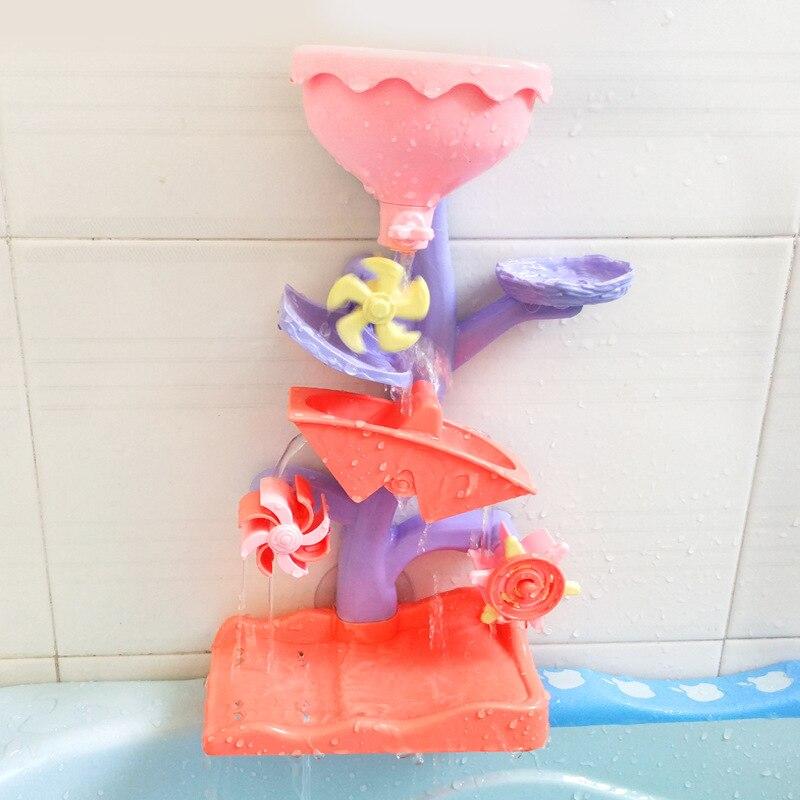 Baby Bath Tree Waterwheel Toy Kid Bathroom Education Water Child Boys Girls Happy Toddler Bathtub Foam Beach Swimming Pool Toy