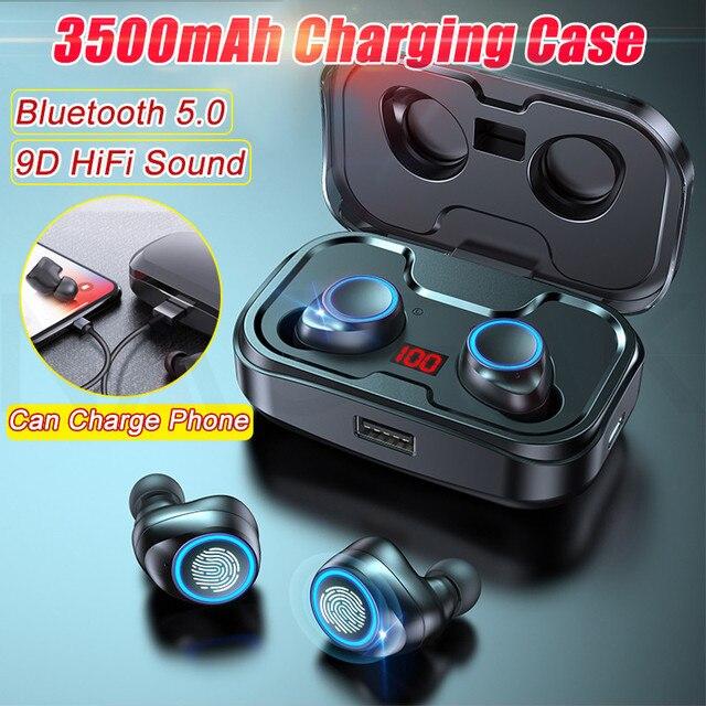 TWS Bluetooth 5.0 Earphones 3500mAh Charging Box Wireless Headphone 9D Stereo Sports Waterproof Earbuds Headsets With Microphone 6