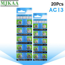 цена на MJKAA 20PCS AG13 Button Battery 1.55V Alkaline Coin Cell Batteries LR44 357A S76E G13 for Watch Electronic Remote