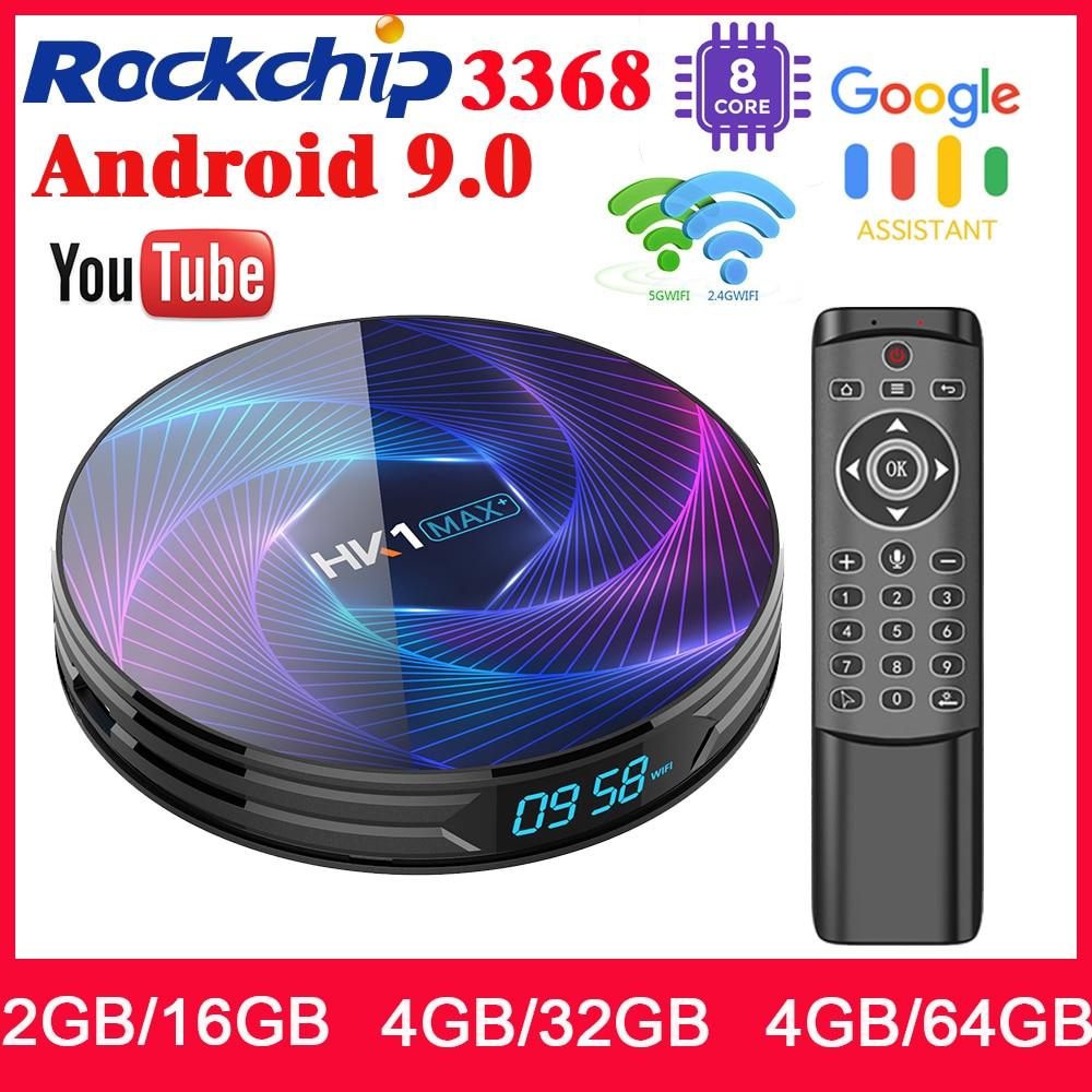 HK1 MAX Android 9.0 4K TV BOX 32G WiFi Quad Core Media Player+1Year IPTV Service