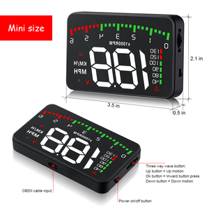 Image 4 - A100 3.5 A900 HUD Head Up Display Car styling Hud Display Overspeed Warning Windshield Projector Alarm System Universal Auto