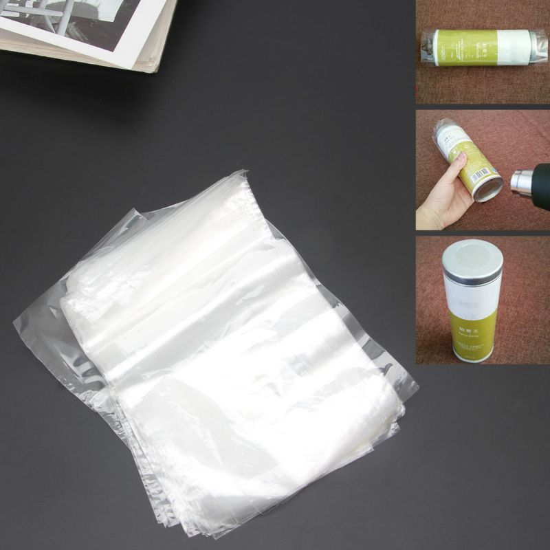100 Pack Clear Heat Shrink Wrap Bags For Soaps Candle Jars Small Gifts Transparent Color 10 X 16 Cm Dropship