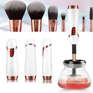 USB перезаряжаемая щетка для макияжа очиститель и сушилка набор электрических кистей для макияжа моющий Инструмент Очиститель кистей для ма...