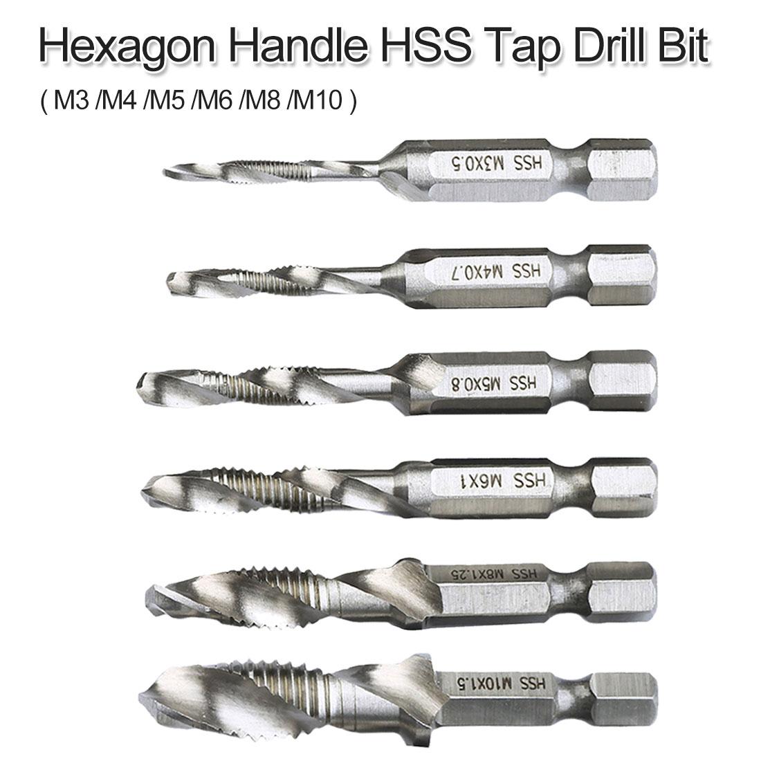 M3/ M4/ M5/ M6/ M8/ M10 Twist Drill Bit 1/4