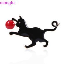 Qiongfu Alloy Puppy Brooch Animal Accessories Brooch Pin CC Brooch Hijab Pins Brooch Pin zinc alloy artificial diamond crown pin brooch silver