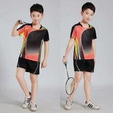2 предмета, футболки для бадминтона, костюм, рубашка с короткими рукавами, детские футболки для настольного тенниса, быстросохнущая командная униформа
