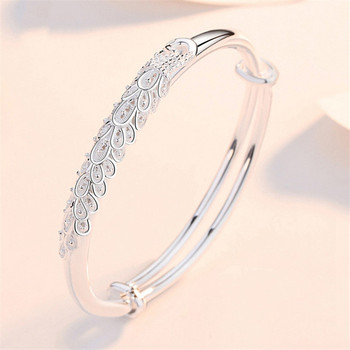Sterling Silver Peacock Bangle  1