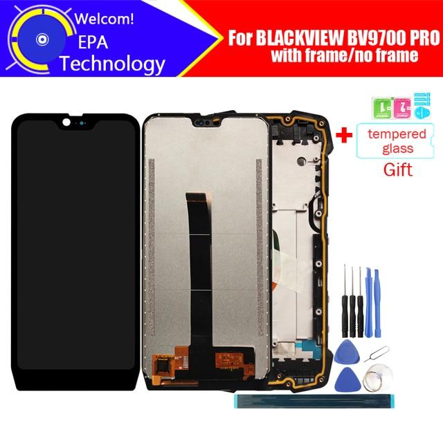 5.84 אינץ BLACKVIEW BV9700 PRO LCD תצוגה + מסך מגע Digitizer עצרת 100% מקורי LCD + מגע Digitizer עבור BV9700 פרו