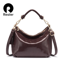 REALER women bag hobos shoulder bag female handbag small tot