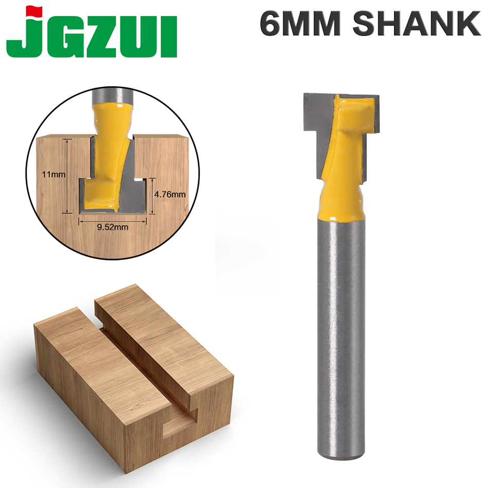 1pc6mm Shank High Quality T-Slot Cutter Router Bit For 6mm Hex Bot