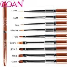 BQAN 1PCRose Gold UV Gel Brush Extension Liner Painting Brush Lines Liner Drawing Nail Brushes Nails Pen Manicure Nail Art Tools