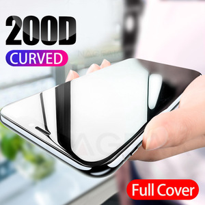 Image 1 - 200D Curved Full Cover Protective Glass On The For iPhone 7 8 6S Plus Tempered Screen Protector iPhone 11 Pro X XR XS Max Glass