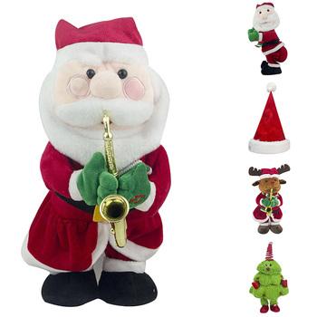 Elektryczny święty mikołaj boże narodzenie kapelusz muzyka wypchana lalka pluszowa zabawka taniec muzyka lalka boże narodzenie 2019 nowy projekt dzieci prezent na boże narodzenie tanie i dobre opinie Pp bawełna Christmas Gift 31 cm-50 cm 14 lat 2-4 lat 5-7 lat Dorośli 8 ~ 13 Lat