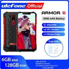 Ulefone Armor 6 IP68 방수 휴대 전화 안드로이드 8.1 Helio P60 Octa Core 6GB 128GB 페이스 ID NFC IP69K 견고한 스마트 폰
