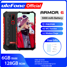 Ulefone Armor 6 IP68 مقاوم للماء الهاتف المحمول أندرويد 8.1 هيليو P60 ثماني النواة 6GB 128GB الوجه معرف NFC IP69K هاتف ذكي متين