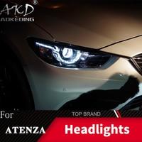Head Lamp For Car Mazda 6 Atenza 2013 2017 Headlights Fog Lights Daytime Running Lights DRL H7 LED Bi Xenon Bulb Car Accessories
