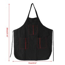 Pro Salon Barber Hair Cutting Gown Cape Hairdressing Hairdresser Apron 3 Pockets X3UF(China)