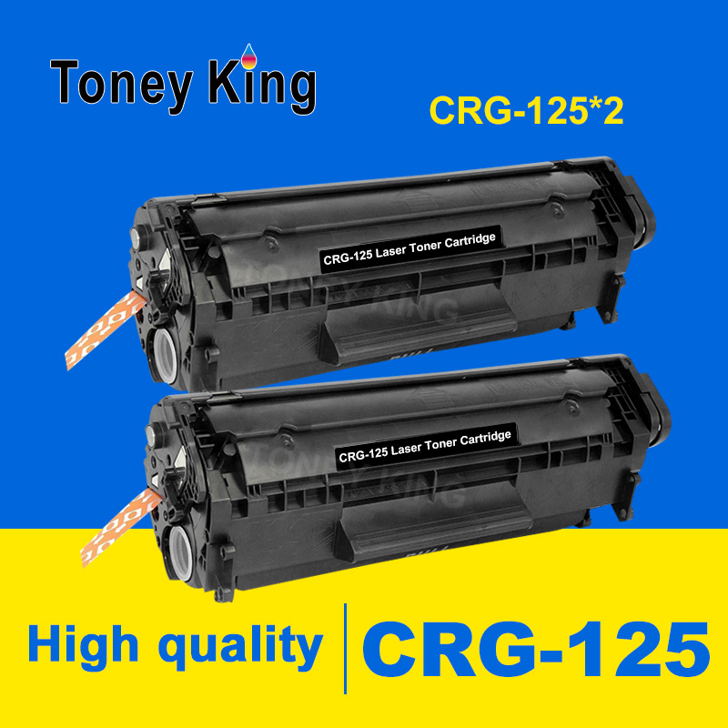 Toney King 2 Pack Compatible CRG 125 325 725 925 BK Laser Toner Cartridge for <font><b>Canon</b></font> <font><b>LBP6000</b></font> LBP6018WL LBP6030w MF3010 Printers image