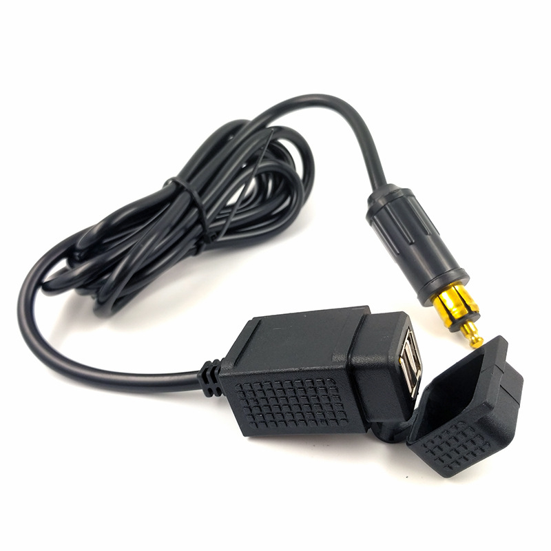 Waterproof Dual USB Charger Adapter With Powerlet Din Hella Socket EU Type For BMW Motorcycle