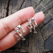 Brincos de sapo bonito para mulheres meninas animal gótico orelha brincos de parafuso prisioneiro piercing feminino jóias coreanas brincos