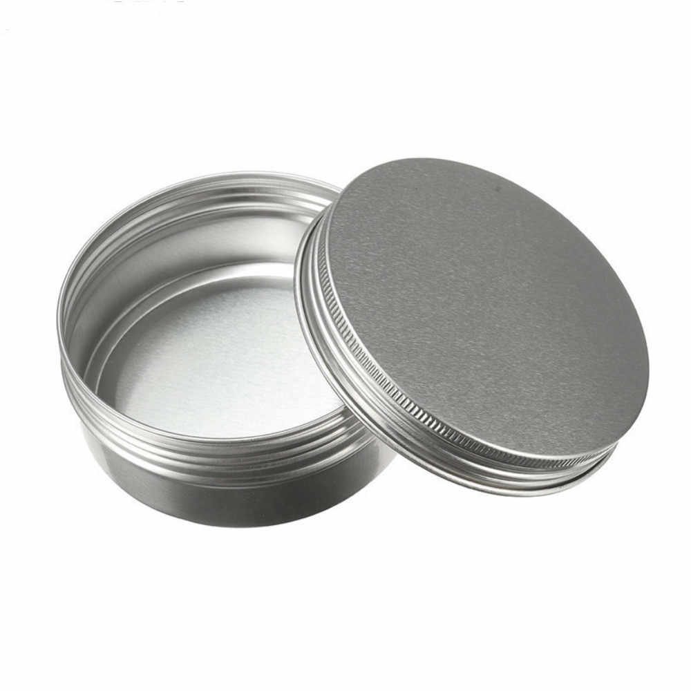 15ml/50ml/100ml/150ml Empty Aluminum Jars Refillable Cosmetic Bottle Ointment Cream Sample Packaging Containers Screw Massage