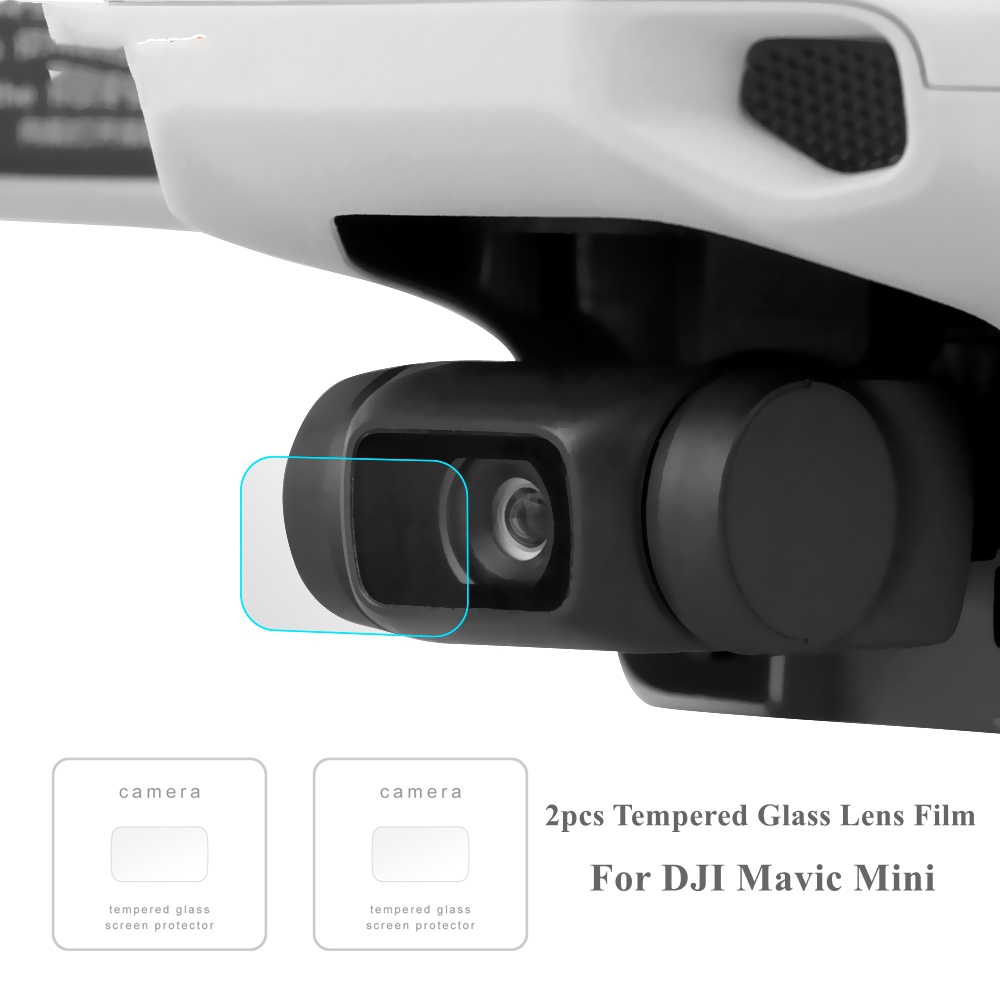 2Pcs Mavic Mini Screen Protector Compatible 9H Hardness Anti-Scratch Tempered Glass Lens Film For DJI Mavic Mini Accessories
