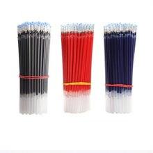 50/100 pces escritório gel caneta recargas 0.38/0.5mm azul preto vermelho tinta substituível recarga rods estudantes exame suprimentos papelaria escolar