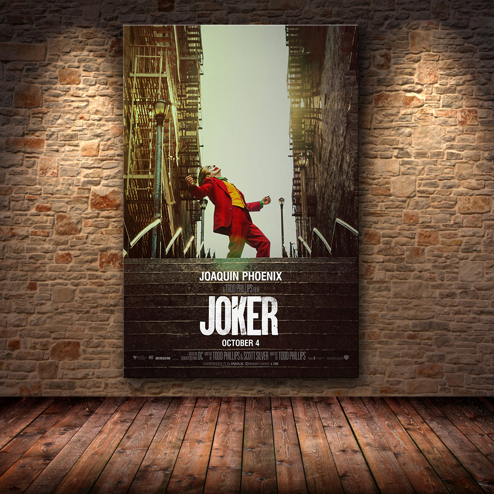 Joaquin Phoenix Poster Prints Joker Poster  Movie 2019 DC Comic Art Canvas Oil Painting Wall Pictures For Living Room Home Decor