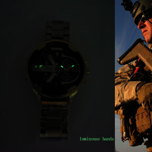 Image 5 - Cagarny montre de luxe pour hommes, à Quartz, double affichage, en acier doré, nouvelle collection livraison directe