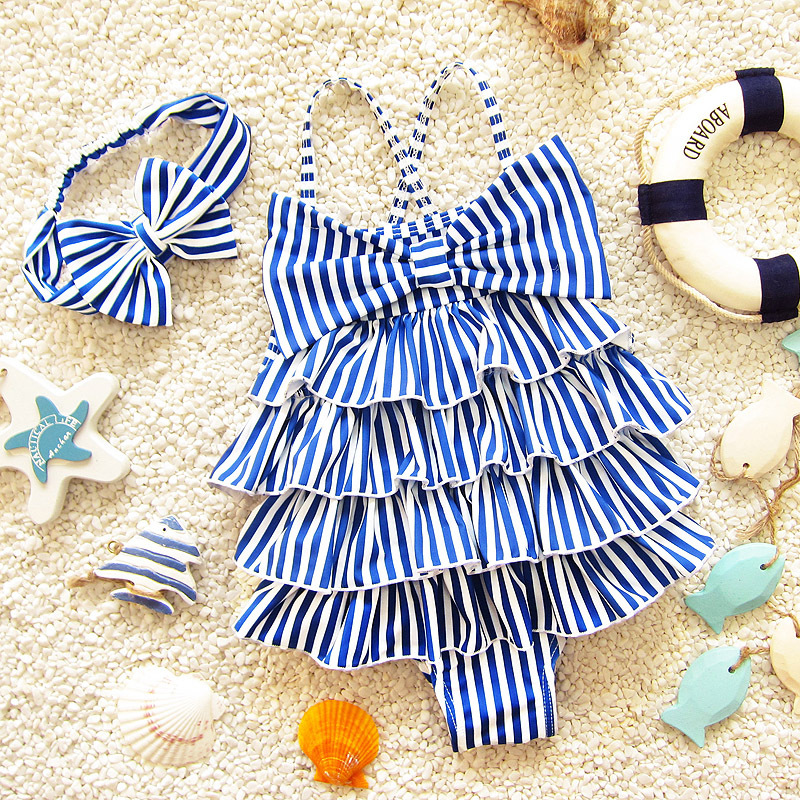2019 Infants Baby Swimming Suit GIRL'S One-piece Dance Catwalks Performance Medium-small Children Cute South Korea New Style