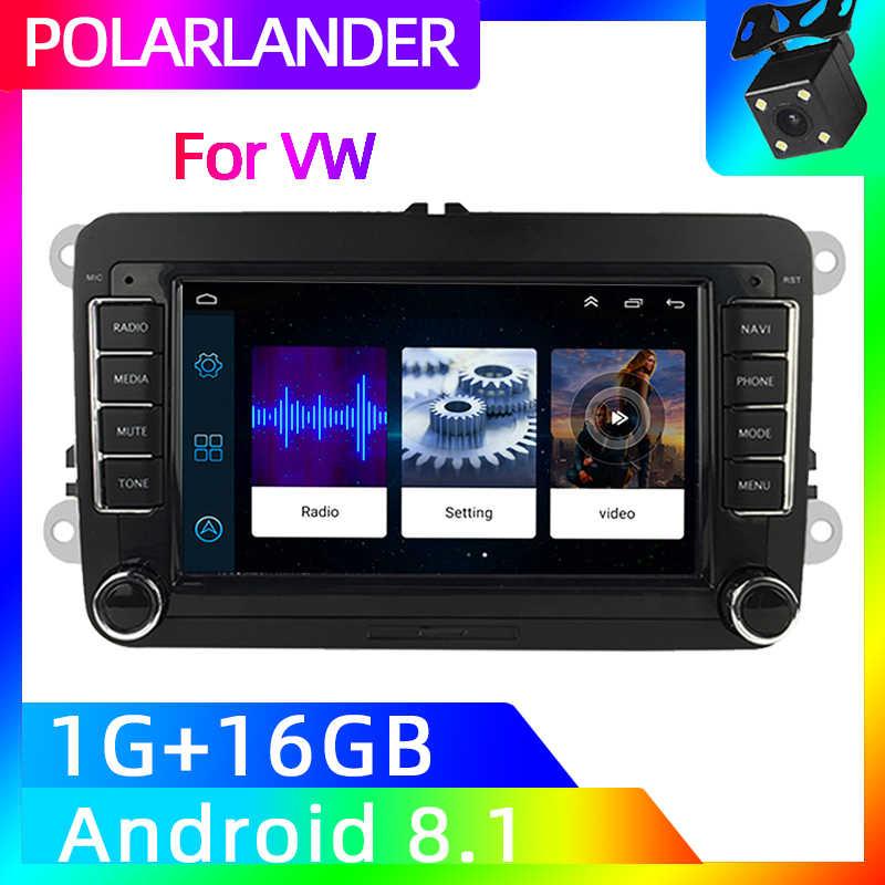 2 Din 7 ミラーリンクインチ Gps ナビゲーションアップルの車のステレオラジオ Wifi ボラゴルフ VW ポロフォルクスワーゲンパサート B6 B7 トゥーラン