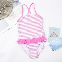 От 1 до 12 лет, детское Монокини, одежда для купания для девочек, новый брендовый летний купальник для девочек, Цельный купальник, детская пляж... 4