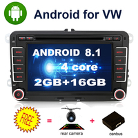 SALE! Quad core 2 Din Android Car DVD radio GPS Navigation For Volkswagen GOLF 4 5 6 POLO PASSAT TIGUAN Wifi+Bluetooth+Radio+GPS