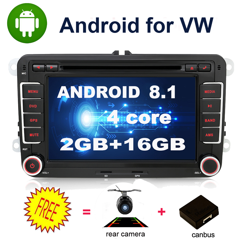 Quad core 2 Din Android 8.1 Car DVD radio GPS Navigation For Volkswagen GOLF 4 5 6 POLO PASSAT TIGUAN Wifi+Bluetooth+Radio+GPS-in Car Multimedia Player from Automobiles & Motorcycles    1
