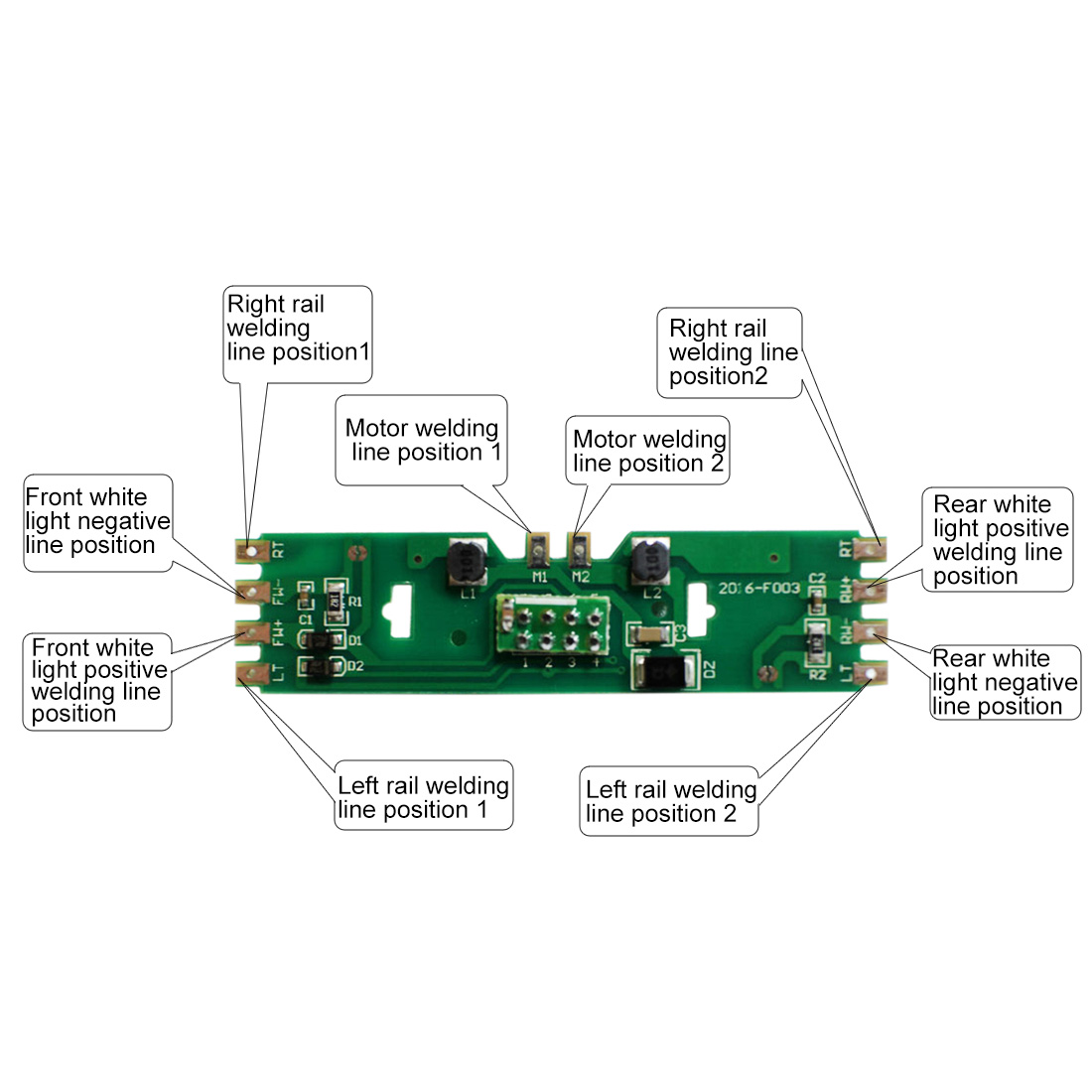 1:87 HO Scale Upgraded PCB Board Part With Resistance For HO Scale Kit