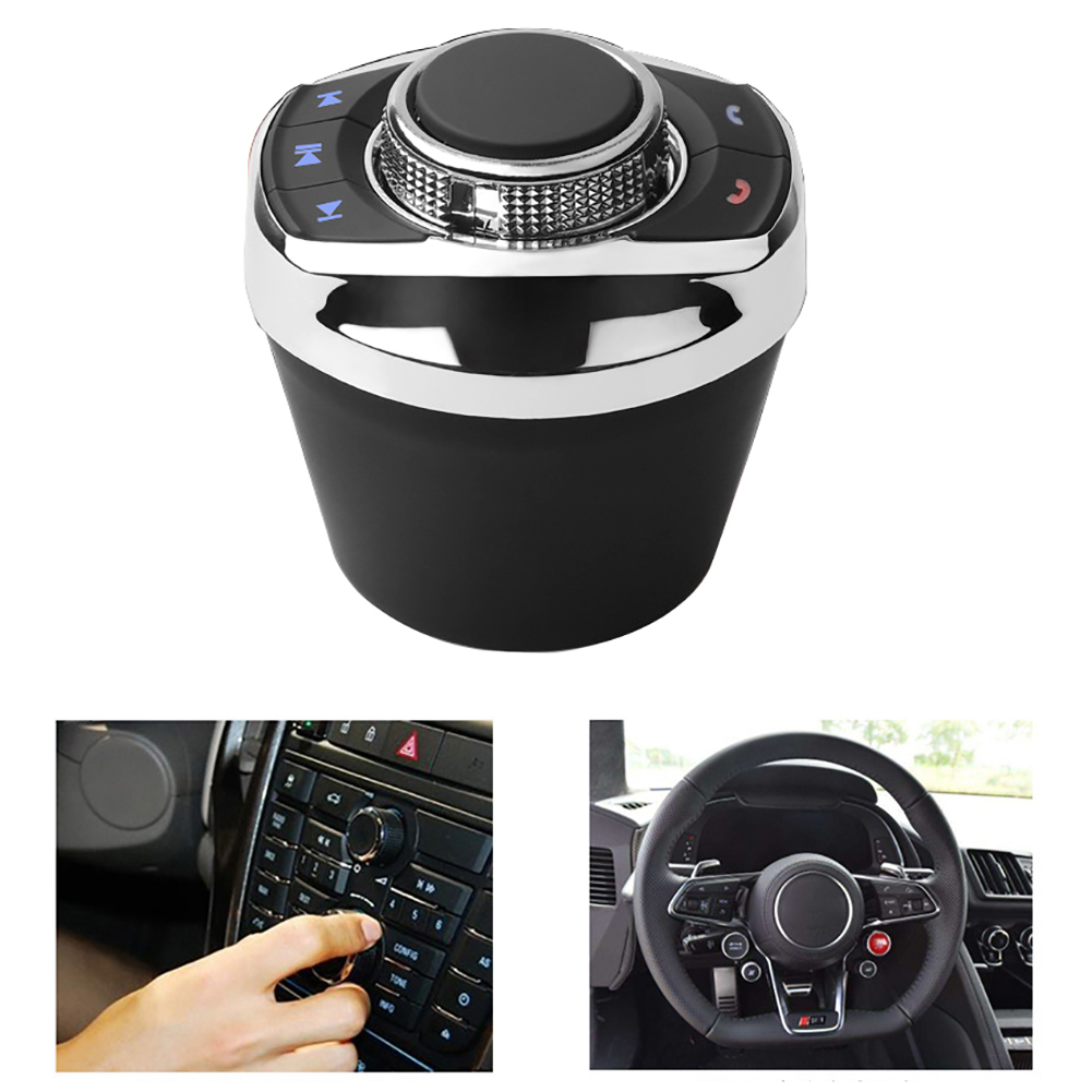 Universal Car Wireless Steering Wheel Control Button With LED Light 8-Key Functions For Car Android Navigation Player