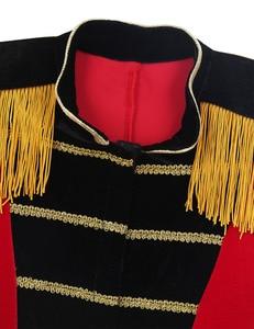 Image 3 - 4 8 yaş çocuklar erkek çocuk sirk Ringmaster kostüm standı yaka saçaklı altın süslemeler Tailcoat ceket cadılar bayramı Cosplay için