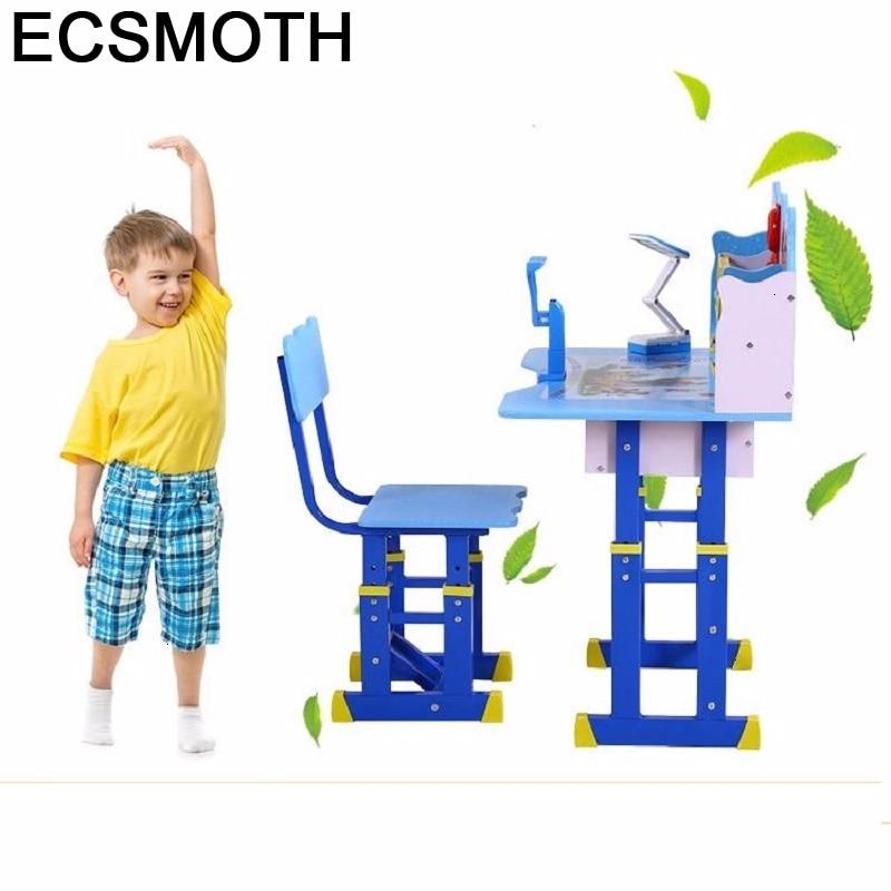 Tavolino Bambini Baby Y Silla Children And Chair Toddler De Estudo Desk Adjustable Mesa Infantil Kinder Study Table For Kids