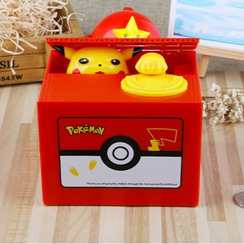 New Synthetic Resin Stealing Coin Cat Money Box Piggy Bank Storage Bank Cute Creative Electric Kids Toys stealing rose