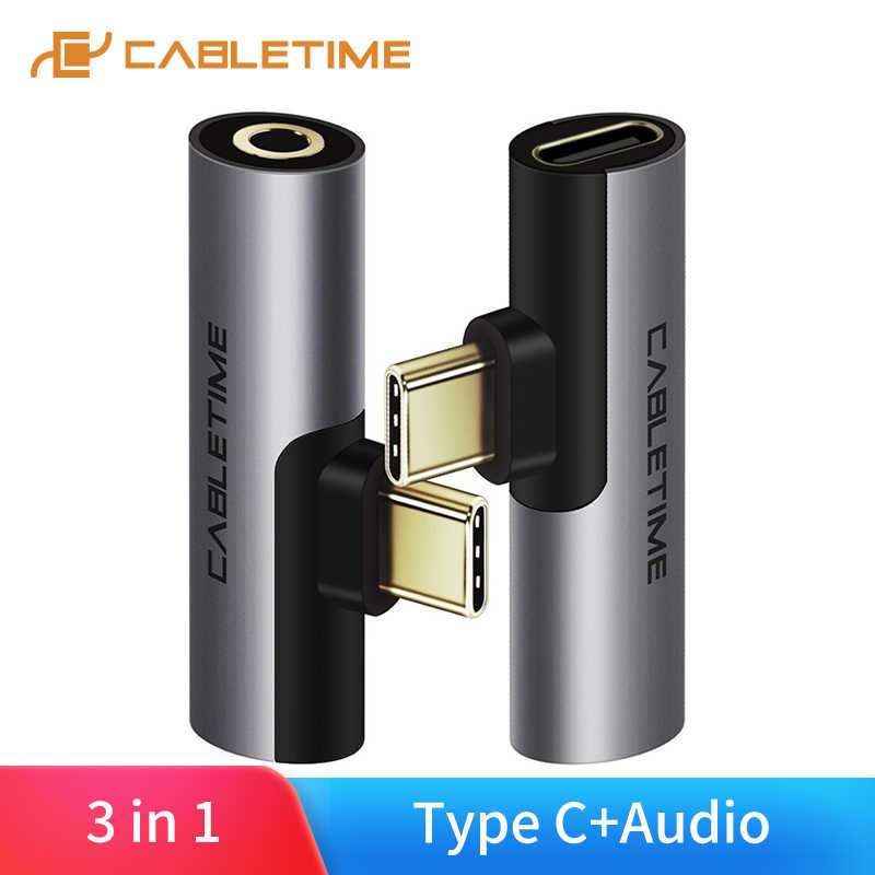 CABLETIME USB tipo C a Audio 3,5mm Jack auriculares señal analógica para Xiao mi Huawei Samsung tipo C OTG USB-C OTG C018