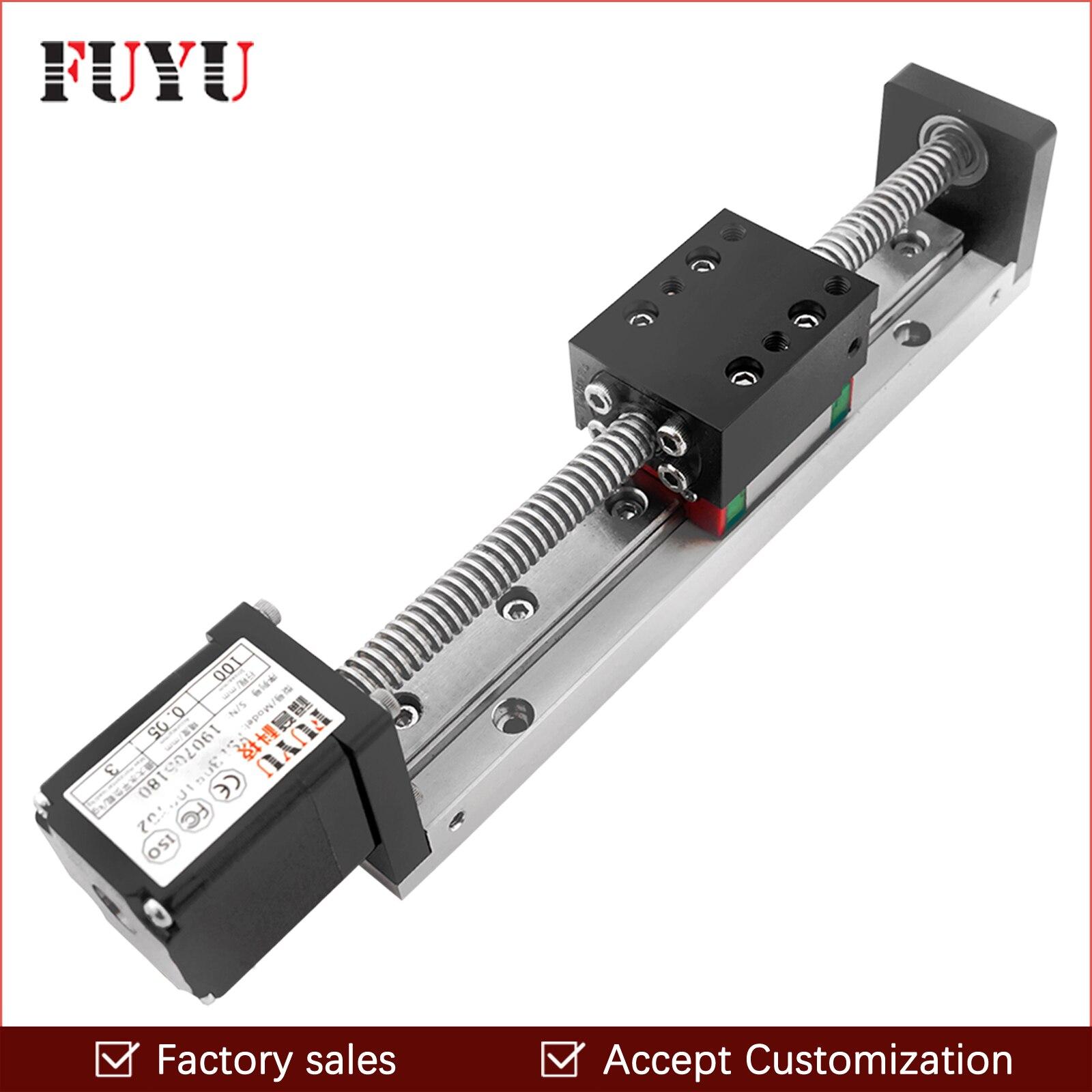 Mini Guide linéaire glissière Rail CNC petit actionneur de scène vis plomb système de Table de mouvement Nema 11 Robot partie moteur pas à pas motorisé