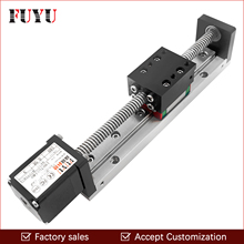 цена на Mini Linear Guide Slide Rail CNC Small Stage Actuator Screw Lead Motion Table System Nema 11 Robot Part Motorzied Stepper Motor