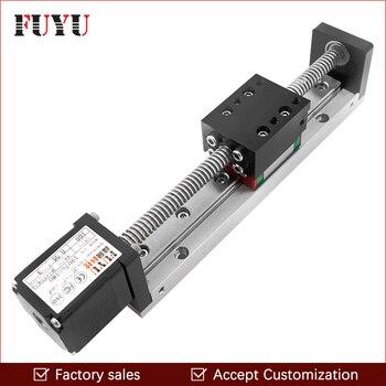 Mini guía lineal deslizante Rail CNC pequeña etapa actuador tornillo plomo mesa de movimiento sistema Nema 11 Robot parte Motor paso a paso motorizado