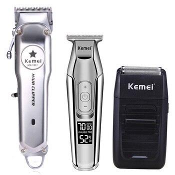 Kemei All Metal Professional Electric Hair Clipper Rechargeable Hair Trimmer Haircut Machine Kit KM-1997 KM-1996 KM-5027 KM-1102 фото