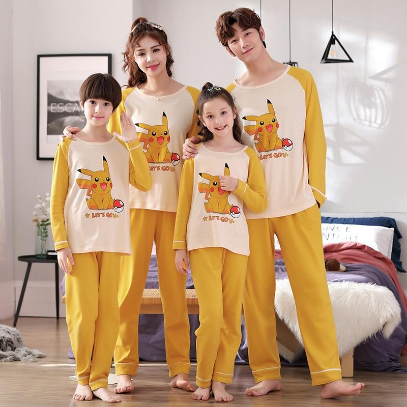 Family Matching Pajamas Set Father Son Night Wear Romper Cotton Pajamas Mother Daughter Clothes Pyjamas 2