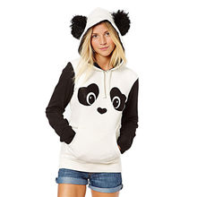 Womail Panda Sweatshirts with ears Printed hoodies sweatshirts off white Long Sleeve Hooded Pullover Hoodie With Pocket T721(China)