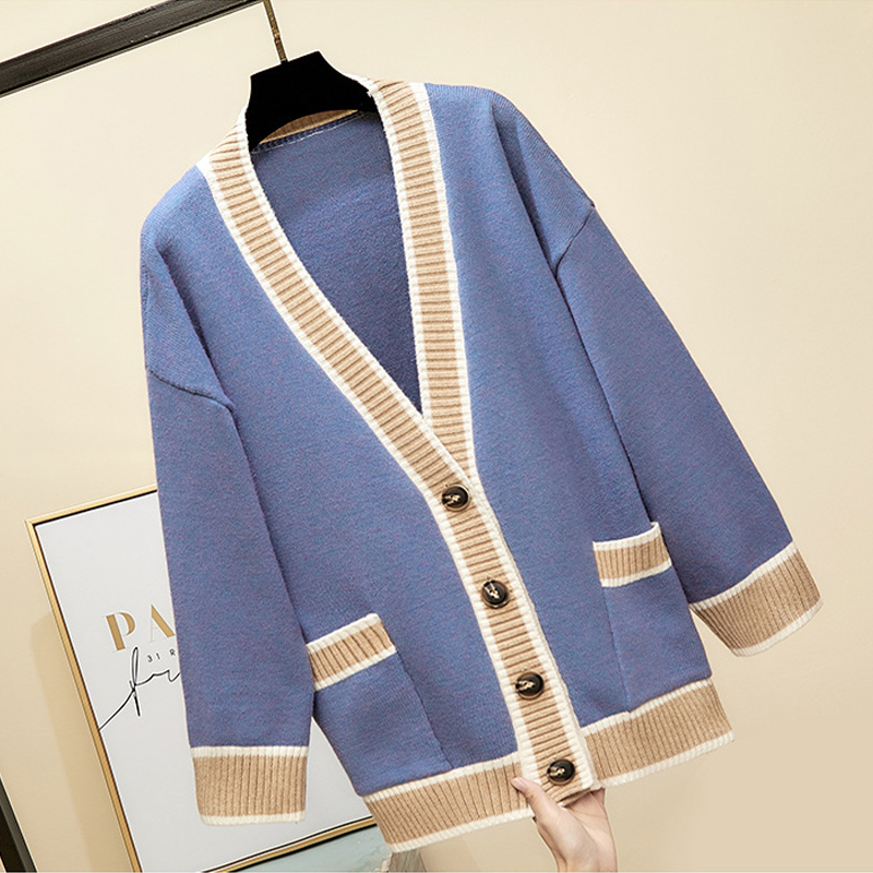 2019 Women Knitted Sweater Breasted Button Female Outwear Cardigan Casual Loose Ladies Cardigans Korean Style